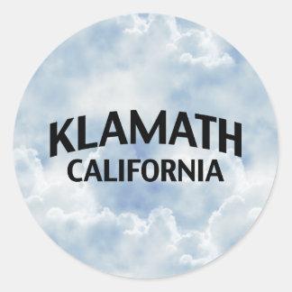 Klamath California Classic Round Sticker