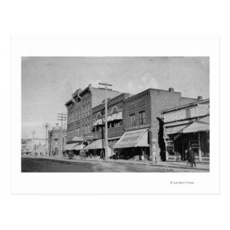 Klamath Falls, OR View looking up Main Street Postcard