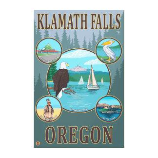 Klamath Falls, OregonScenic Travel Poster Stretched Canvas Prints