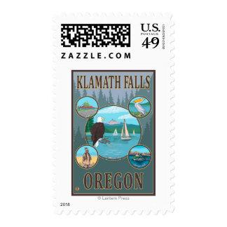 Klamath Falls, OregonScenic Travel Poster Stamp