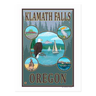 Klamath Falls, OregonScenic Travel Poster Post Card