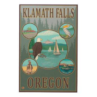 Klamath Falls, OregonScenic Travel Poster Wood Wall Art