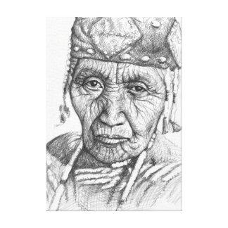 Klamath Woman Canvas Print