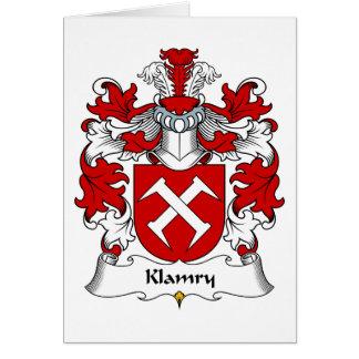 Klamry Family Crest Greeting Card