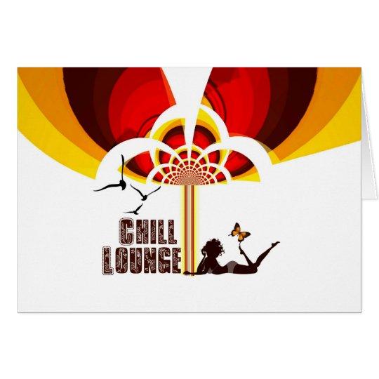 Klapp Karte ``Retro Flower Chill Lounge´´ Card