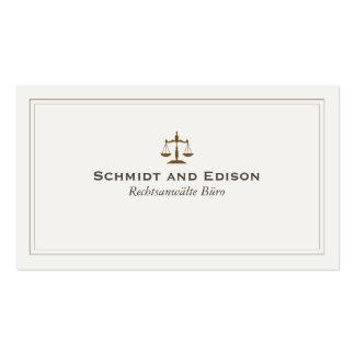 Klassische Rechtsanwalts-Visitenkarte Business Card