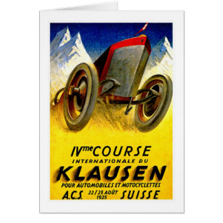Klausen Race ~ Vintage Automobile Ad Card