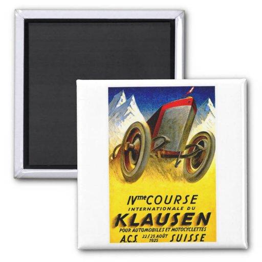 Klausen Race ~ Vintage Automobile Ad Refrigerator Magnet