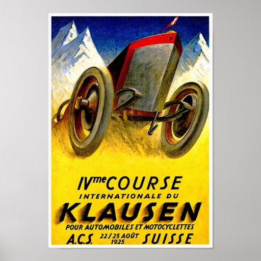 Klausen Race ~ Vintage Automobile Ad Poster