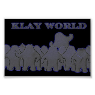 Klay World Poster Black Glow
