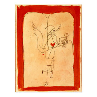 Klee - A Spirit Serves a Small Breakfast Postcard