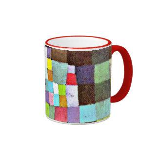 Klee - abstracción referente a árbol floreciente taza de dos colores