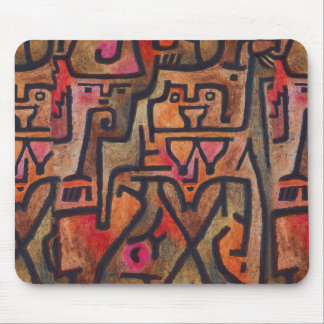 Klee Abstract Red Expressionist Pattern Mouse Pad