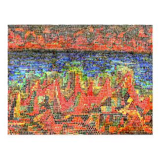 Klee - acantilados por el mar tarjetas postales