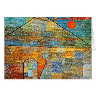Klee - anuncio Parnassus, ilustraciones famosas de Tarjeta De Felicitación