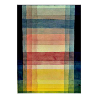 Klee - Architecture of the Plain Poster