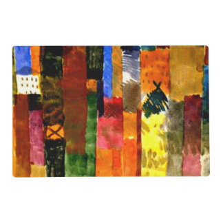 Klee - Before the Town Laminated Placemat