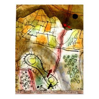 Klee - Brief Description of a Mountain Pass Postcard