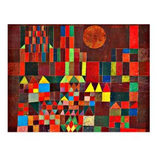 Klee - castillo y Sun Tarjeta Postal