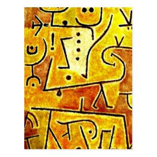Klee - chaleco rojo tarjeta postal