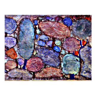 Klee - Colorful Forest Postcard