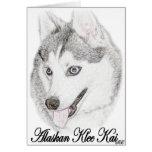 Klee de Alaska Kai Felicitación