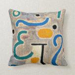 Klee: El arte abstracto del florero Almohada
