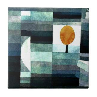 Klee: El mensajero del otoño Azulejo Cuadrado Pequeño