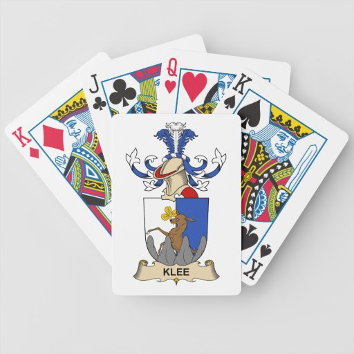 Klee Family Crest Bicycle Card Deck