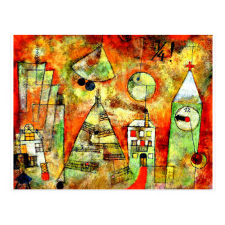 Klee - Fateful Hour at Quarter to Twelve Postcard