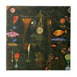 "Klee - Fish Magic Tile<br><div class=""desc"">Paul Klee art,  Fish Magic,  ceramic tile.</div>"