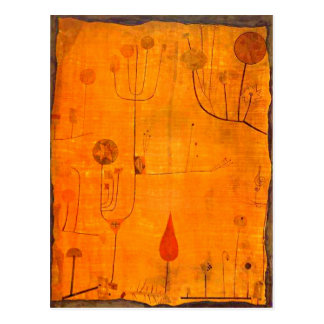 Klee - Fruits on Red Postcard