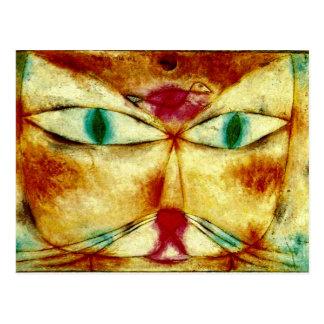 Klee - gato y pájaro tarjetas postales