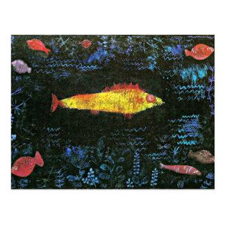 Klee - Goldfish postcard. Postcard