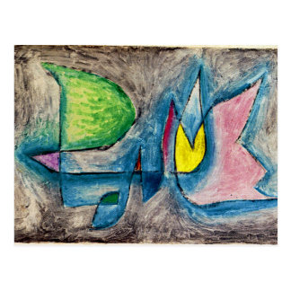 Klee - grupo de árboles tarjeta postal