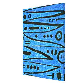Klee - Heroic Fiddling-1938 Canvas Print