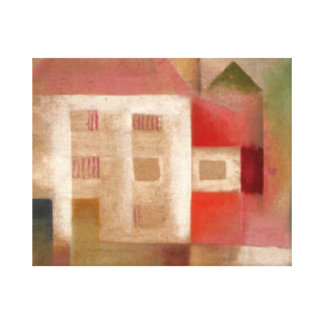 Klee - House in the Suburbs Canvas Print
