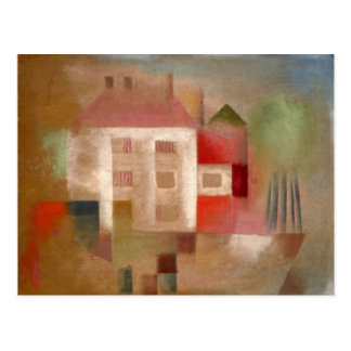 Klee - House in the Suburbs Postcard