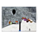 Klee - invierno, pintura de Paul Klee Tarjeta De Felicitación