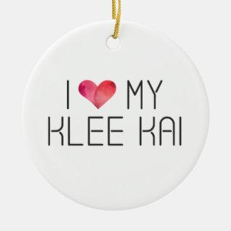 Klee Kai Love Quote Ceramic Ornament