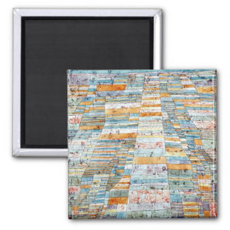 Klee - Main Path and Byways-1929 2 Inch Square Magnet