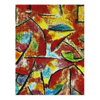 Klee - niño y tía tarjeta postal