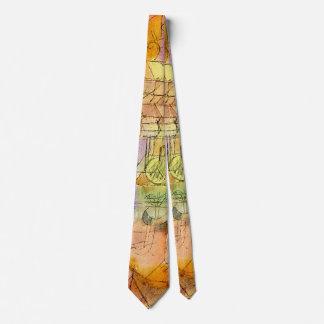 Klee - paisaje inacabado enmarcado en azul cerúleo corbata personalizada