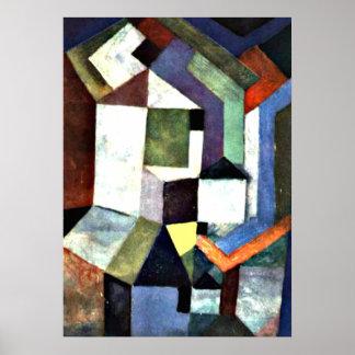 Klee: Paisaje septentrional piadoso Póster