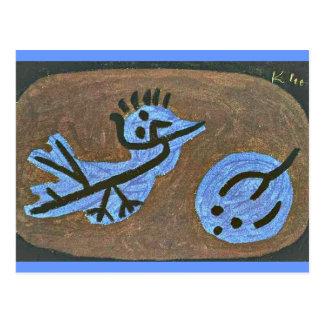Klee: Pájaro-Calabaza azul Postal
