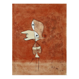 Klee - Portrait of Brigette Postcard