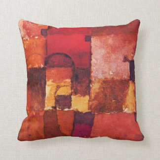 Klee - Red and White Cupolas Pillow