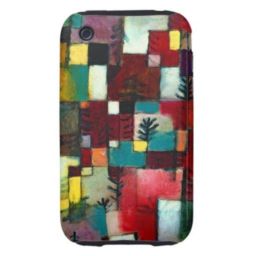 Klee - Redgreen y ritmos amarillos violetas iPhone 3 Tough Carcasas