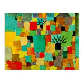Klee - Southern Tunisian Gardens Postcard
