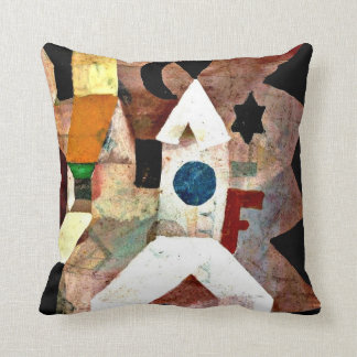 Klee - The Chapel, Paul Klee painting Throw Pillows